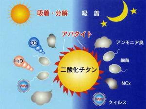 アパタイトと二酸化チタン